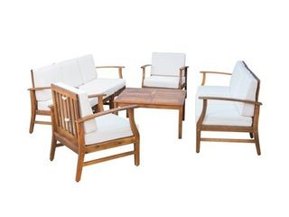 INCOMPlETE Perla Outdoor Acacia Wood 2 piece Sofa Set by Christopher Knight Home