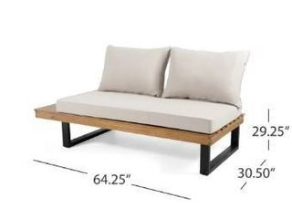 Sebastian Outdoor Acacia Wood Sofa by Christopher Knight Home