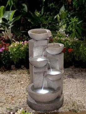 5 tier Bowls Water Fountain with lED light   Retail Value  230 49