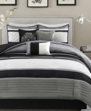 Gray Burnett Comforter Set King 7pc
