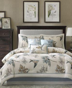 Madison Park Pierce 7 piece Cotton Twill Printed Comforter Set  Retail 130 69