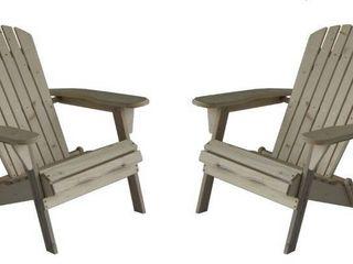 Oceanic Adirondack Chair  Set of 2  Retail 157 99