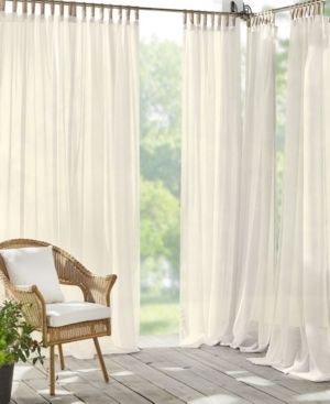 Darien Sheer 52  x 95  Indoor Outdoor Tab Top Curtain Panel