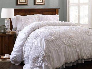Serena Comforter White 3Pc Set King