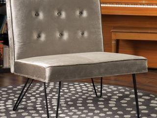 Darrow Modern Velvet Armless Chair by Christopher Knight Home  Retail 156 99