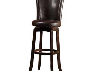 Hillsdale Furniture Copenhagen Swivel Bar Stool  Walnut Finish
