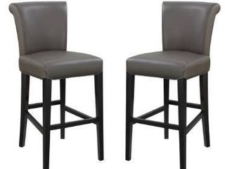 Copper Grove Fenua 30 inch Faux leather Curved Back Bar Stools  Set of 2  Retail 313 99