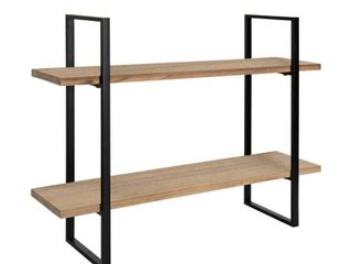 Kate and laurel leigh Wood and Metal Wall Shelf   30x24  Retail 124 49