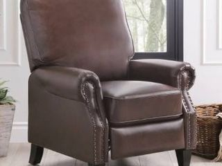 Abbyson Carla Bonded leather Pushback Recliner  Retail 415 49