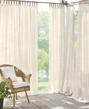 lot of 3 Darien Sheer 52  x 95  Indoor Outdoor Tab Top Curtain Panel
