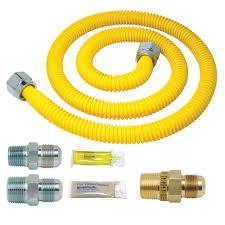 brass craft gas lines 2 pc yellow