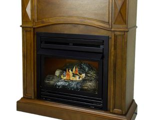 Pleasant Hearth 36 in  Natural Gas Compact Heritage Vent Free Fireplace System 20 000 BTU