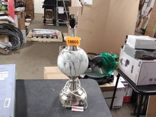 marble glass lamp no shade