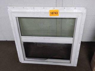 vinyl window 24x23 and half as is