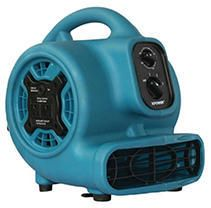 P 230AT 1 4 HP 925 CFM 3 Speed Mini Air Mover Floor Dryer Utility Blower Fan with Timer and Power Outlets