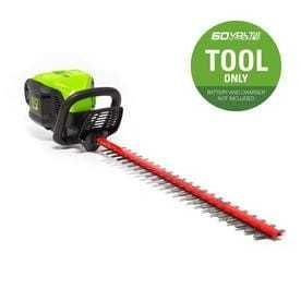 Greenworks Pro 60 volt 26 in Dual Cordless Hedge Trimmer  Battery Not Included