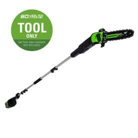 Greenworks Pro 60 volt lithium Ion 10 in Cordless Electric Pole Saw  Battery Not Included
