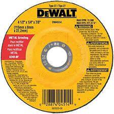 DEWAlT DW4719 7 Inch by 1 4 Inch by 7 8 Inch General Purpose Metal Grinding Wheel