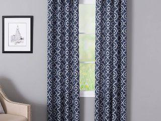 Bennett 50  x 95  Geometric Print Curtain Panel Pair