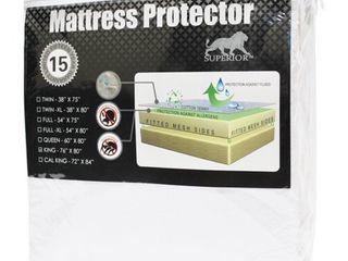 Superior 100 Percent Waterproof Hypoallergenic Premium Queen Mattress Protector