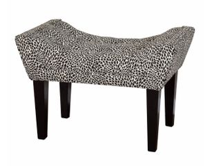 leffler Home Maddie Upholstered Bench  Tiny leaves Onyx  Retail 199 49