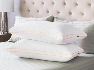 Swiss lux Medium Density Gusseted Pillows  Set of 2