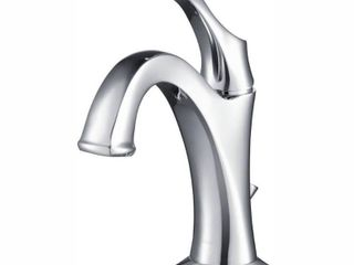 KRAUS Arlo Single Handle 1 Hole Bathroom Faucet w  lift Rod Drain  Chrome Retail 129 94