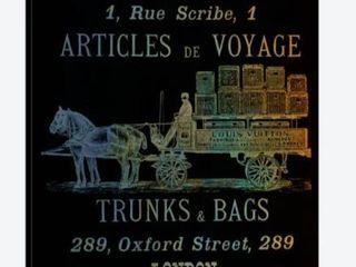 Vintage Woodgrain louis Vuitton Sign Canvas