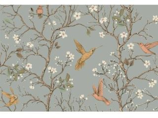 Harvis Blossom Tree with Birds  Wallpaper  6 Sheets Total   10 ft H x 24 inch W  Each