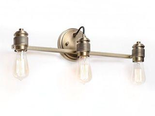 Menlo 3 light Aged Brass Bath Vanity Fixture  Retail 101 49