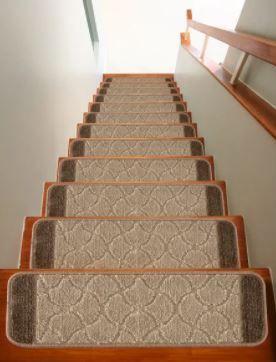 Nova Morrocan Washable Non Slip Non Skid Stair Treads  12 Pc Set