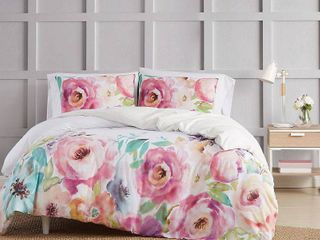 King  Christian Siriano NY Spring Flowers 3 Piece Duvet Cover Set  Retail 119 98