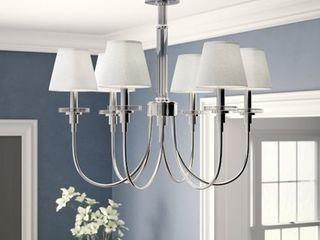 Royal Designs Hardback Empire linen White Clip on Chandelier lamp Shade  Set of 6  Retail 83 49