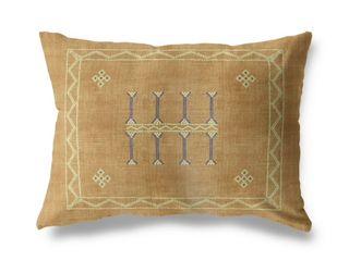 Amulet Kilim Sand lumbar Pillow by Kavka Designs