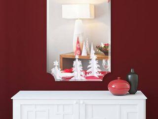 Empire Art Direct Frameless Rectangle Scalloped Beveled Mirror