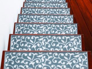 SUSSEXHOME leaves Collection Stair Treads 100  Polypropylene  Retail 76 48