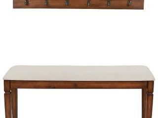 Waverly Wood Bench with Coat Rack Set   Retail 177 10