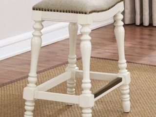 White  Hollyn 25 inch Saddle Seat Counter Stool by Greyson living  Retail 126 99