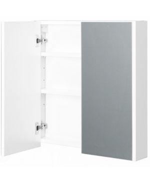 2 Shelves White Wall Mounted Bathroom  Powder Room Mirrored Door Vanity Cabinet Medicine Chest