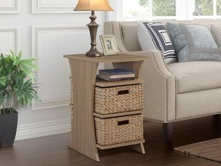 Gallerie Decor All in 1 Side Table with Storage Basket