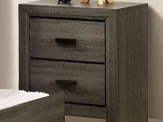 Furniture of America Roanne Night Stand Grey