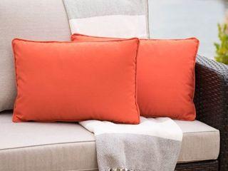 Coronado Outdoor Rectangular Pillow  Set of 2  by Christopher Knight Home