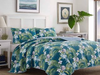 Full Queen Southern Breeze Quilt   Sham Set Blue   Tommy Bahama