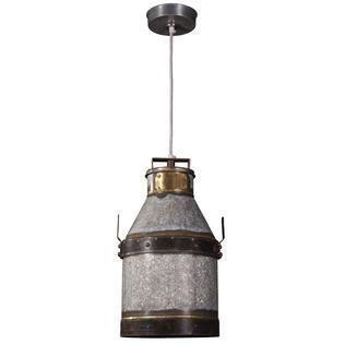 Boone 1 light Industrial Iron Pendant  Retail 113 49