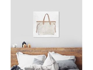 Oliver Gal  Royal Handbag Ivory  Fashion and Glam Wall Art Canvas Print   White  Brown Retail 249 99