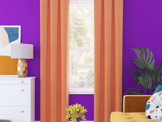 Sun Zero Harper Bright Vibes Total Blackout Grommet Curtain Panel SET OF TWO