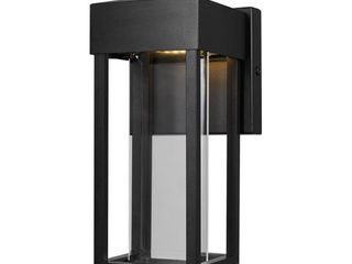 Globe Electric Bowie Integrated lED Matte Black Outdoor Indoor Wall Sconce  44246