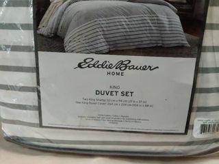 Eddie Bauer King Cooper Duvet Cover   Sham Set Beige