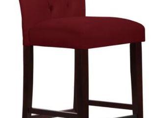 Skyline Furniture Tufted Counter stool in Velvet Berry