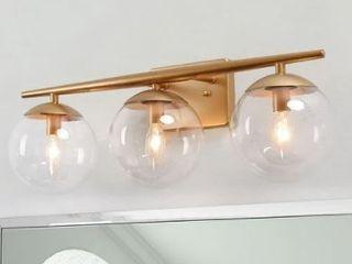 Modern 3 lights Bathroom Vanity lighting Golden Wall Sconce Power Room lights   l22 x H8 5 x E7 5  Retail 159 99